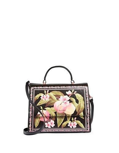 Ted Baker London Floral Top Handle Bag-BLACK-One Size