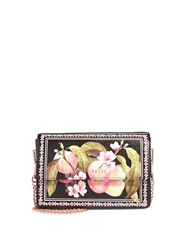Ted Baker London Floral Crossbody Bag-BLACK-One Size