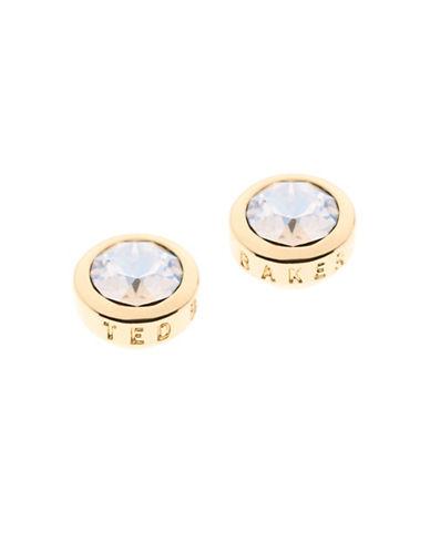 Ted Baker London Sinaa Swarovski Crystal Stud Earrings-GOLD-One Size
