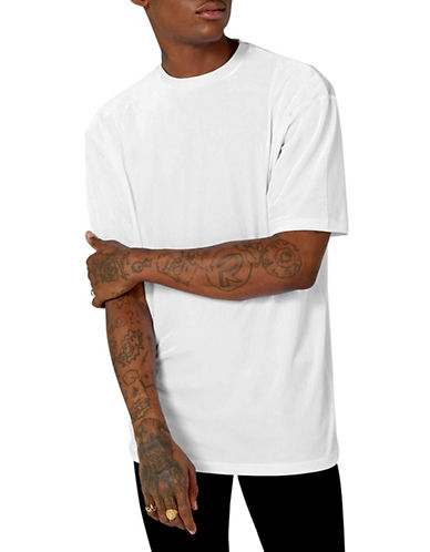 Topman Velour Oversized T-Shirt-WHITE-Large 89822551_WHITE_Large