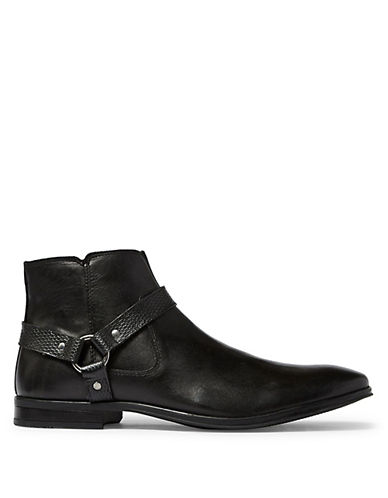Topman Callay Leather Harness Boots 90015204