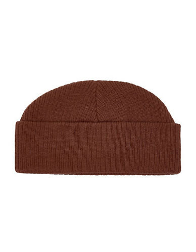 Topman Fisherman Beanie-BROWN-One Size