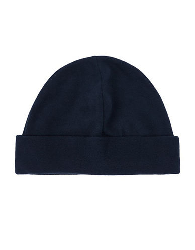 Topman Fleece Beanie-NAVY BLUE-One Size