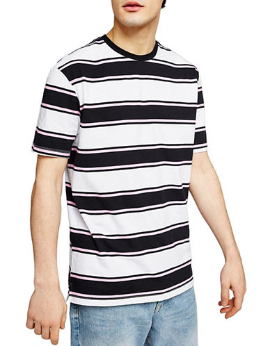 Topman Classic Fit Striped T-Shirt-PINK-Large 90059560_PINK_Large