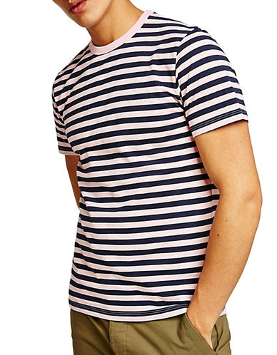 Topman Slim Fit Striped T-Shirt-PINK-Medium 90105324_PINK_Medium