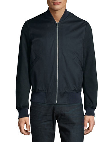 Ps By Paul Smith Zip-Up Bomber Jacket-BLUE-Large