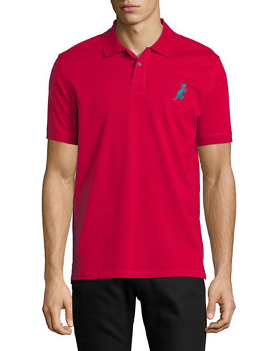 Ps By Paul Smith Dino Patch Cotton Polo-RED-Medium