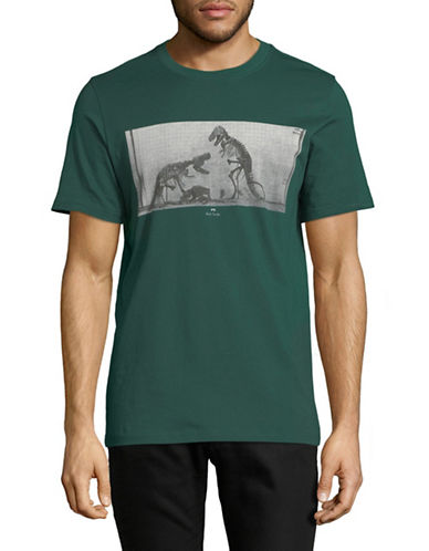Ps By Paul Smith Dino Regular-Fit Cotton T-Shirt-GREEN-Small