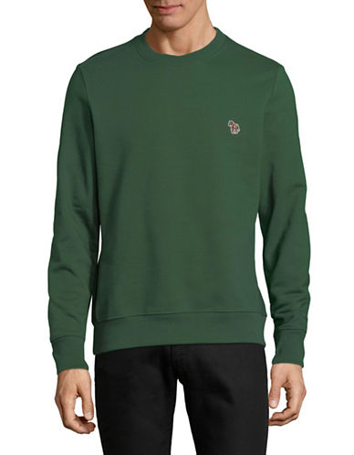 Ps By Paul Smith Zebra Patch Cotton Sweatshirt-GREEN-Large