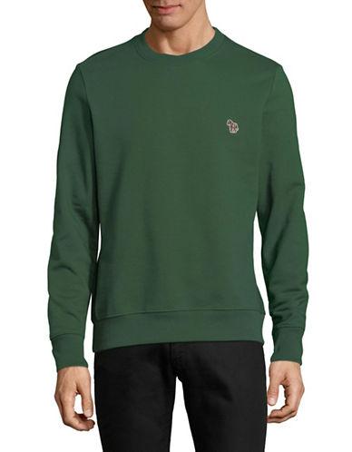 Ps By Paul Smith Zebra Patch Cotton Sweatshirt-GREEN-Small