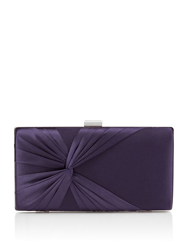 Jacques Vert Twisted Clutch Bag-PURPLE-One Size
