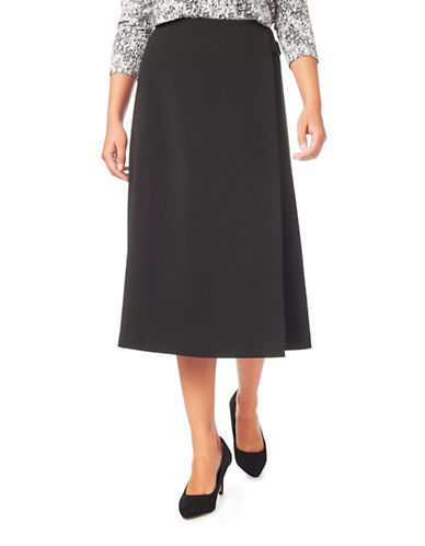 Eastex Wrap Skirt-BLACK-UK 14/US 12