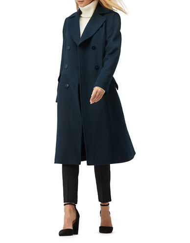 Jacques Vert Classic Fit-and-Flare Coat-GREEN-UK 10/US 8