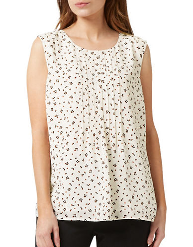 Precis Petite Multi Spot Print Blouse-WHITE MULTI-UK 10/US 8
