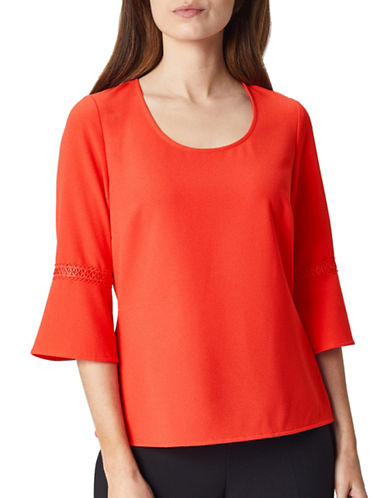 Precis Petite Bell Sleeve Blouse-CORAL-UK 16/US 14