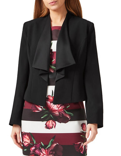 Precis Petite Waterfall Long Sleeve Jacket-BLACK-UK 8/US 6