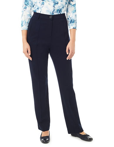 Eastex Ponte Straight Trousers-BLUE-UK 12/US 10