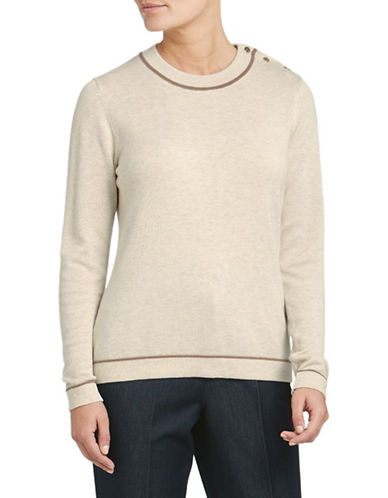 Eastex Contrast Tipped Sweater-CREAM-UK 16/US 14