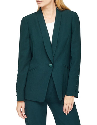 Jacques Vert Textured Coat-GREEN-UK 16/US 14