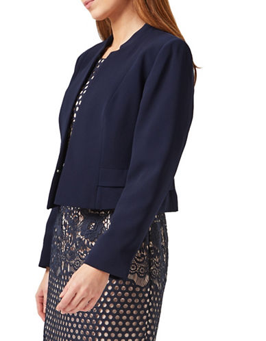 Precis Petite Amelia Long Sleeve Jacket-NAVY-UK 10/US 8