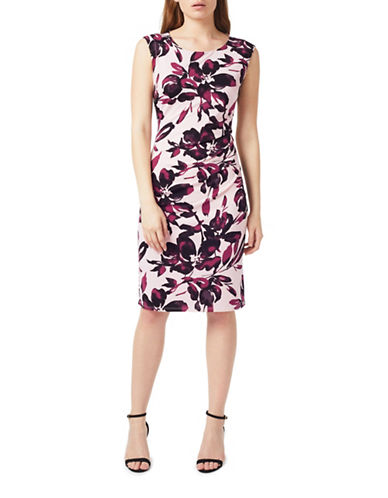 Precis Petite Shadow Floral Knee-Length Dress-BLACK MULTI-UK 16/US 14