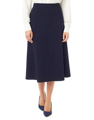 Eastex Ponte Flared Midi Skirt-BLUE-UK 16/US 14