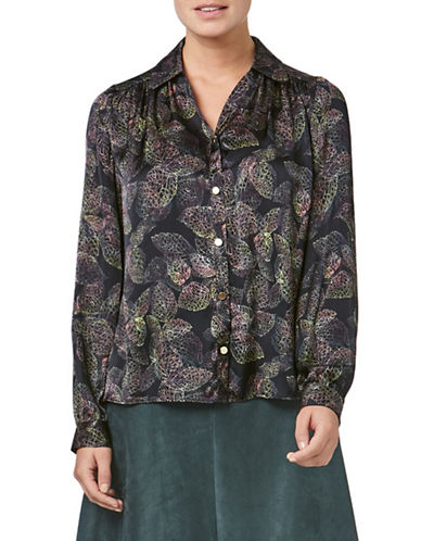 Eastex Printed Long Sleeve Blouse-MULTI BLACK-UK 16/US 14