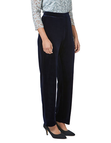 Eastex Velvet Trousers-BLUE-UK 20/US 18