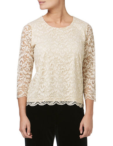 Eastex Sparkle Lace Top-BROWN-UK 18/US 16