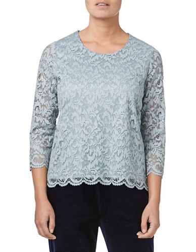 Eastex Sparkle Lace Top-BLUE-UK 14/US 12