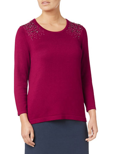 Eastex Studded Sweater-PINK-UK 14/US 12
