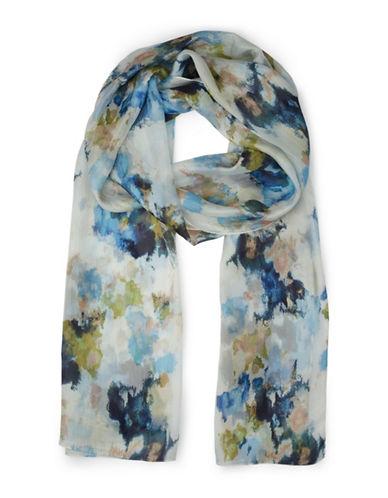 Eastex Painted Silk Shawl-CREAM-One Size
