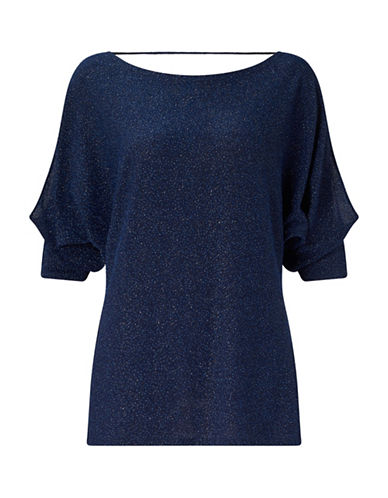 Jacques Vert Alanna Sparkly Top-BLUE-Small