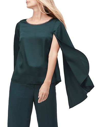Jacques Vert Long Sleeve Blouse-GREEN-UK 20/US 18
