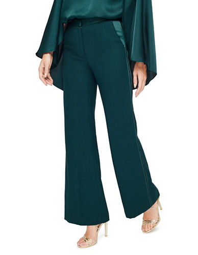 Jacques Vert Slim-Leg Bell Bottom Trouser-GREEN-UK 16/US 14