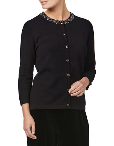 Eastex Beaded Cardigan-BLACK-UK 16/US 14