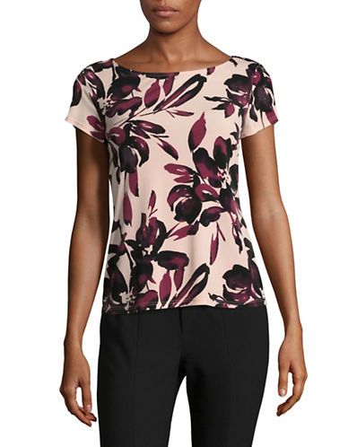 Precis Petite Shadow Floral Print Tee-PINK-Large 89564853_PINK_Large