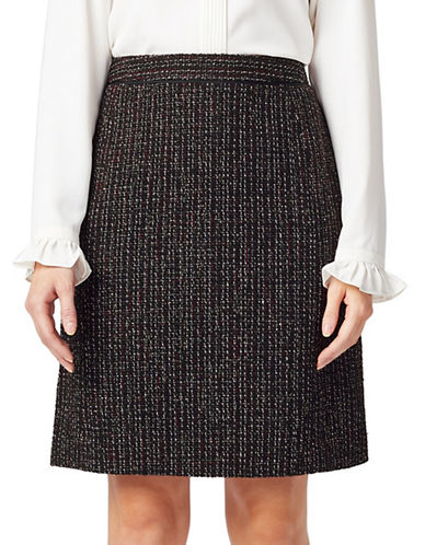 Precis Petite Petite Tweed Boucle Skirt-DARK RED-UK 16/US 14