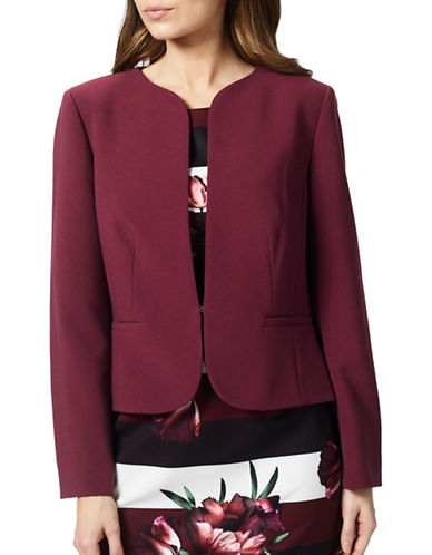 Precis Petite Edge To Edge Blazer-RED-UK 6/US 4