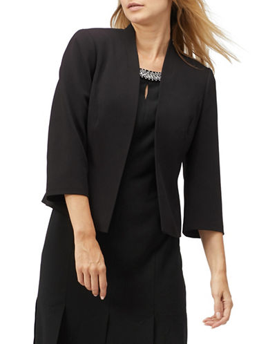 Jacques Vert Open Front Blazer-BLACK-UK 16/US 14