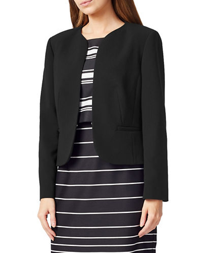 Precis Petite Lila Long Sleeve Jacket-BLACK-UK 10/US 8