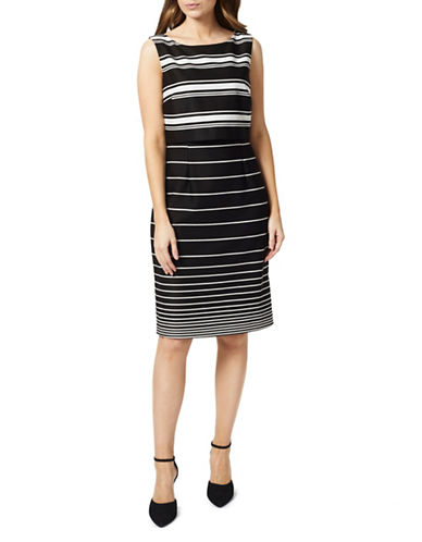 Precis Petite Striped Sheath Dress-BLACK MULTI-UK 6/US 4