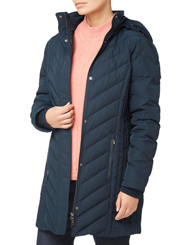 Eastex Chevron Padded Coat-BLUE-UK 16/US 14