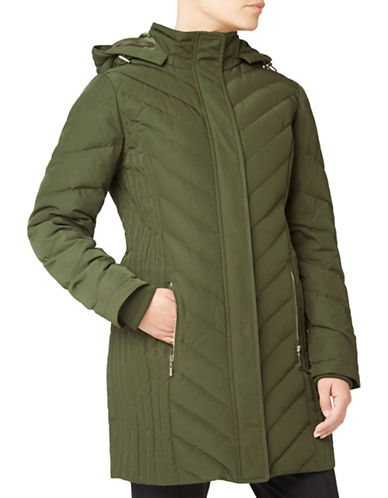 Eastex Chevron Padded Coat-GREEN-UK 10/US 8