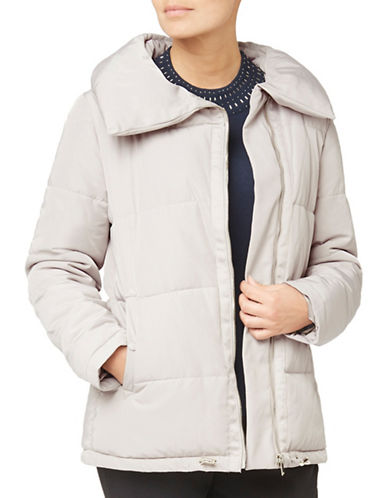 Eastex Short Asymmetric Coat-LIGHT NEUTRAL-UK 20/US 18
