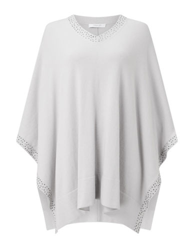 Jacques Vert Selma Open Side Caftan-LIGHT GREY-Small/Medium