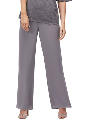 Jacques Vert Crepe Trousers-DARK GREY-UK 22/US 20