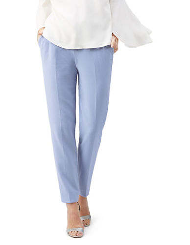 Jacques Vert Elena Compact Stretch Trousers-BLUE-UK 10/US 8
