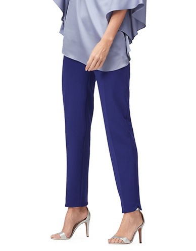 Jacques Vert Elena Compact Stretch Trousers-NAVY-UK 18/US 16