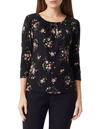 Precis Petite Rosie Top-MULTI BLACK-X-Small